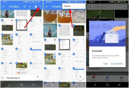 مخفی کردن عکس در Google Photos